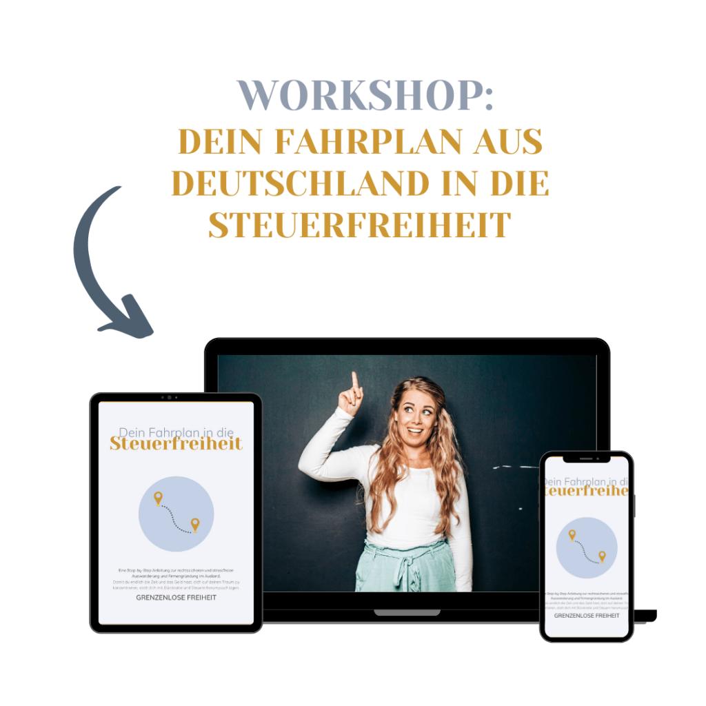 Workshop Dein Fahrplan in die Steuerfreiheit