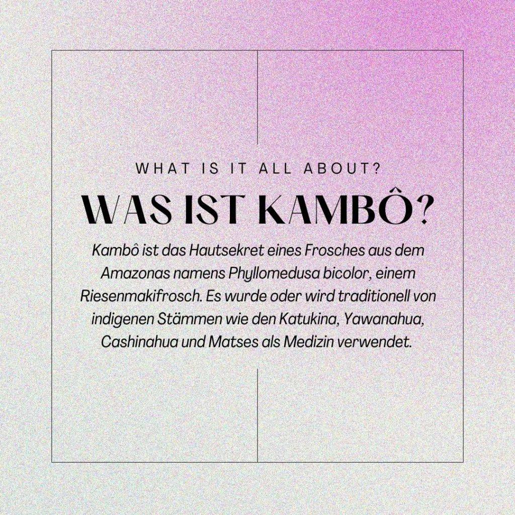 Infografik: Was ist Kambô