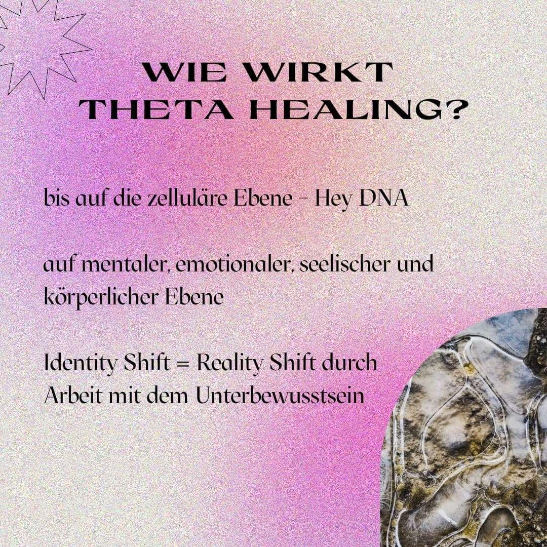 Theta Healing wirkt auf zellulärer Ebene (Zellebene) und hat Auswirkungen auf mentaler, emotionaler, seelischer und körperlicher Ebene